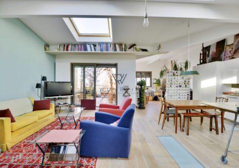 150m2 duplex type Loft, 2 terrasses St-Ouen
